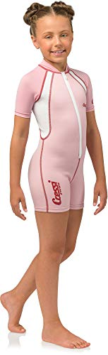 Cressi Kid Shorty Wetsuit 1.5 mm - Shorty Neoprenanzug für Kinder Ultra Stretch Neopren, Rosa/Weiß, S (2 Jahre)