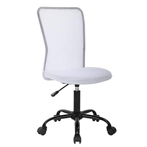 Mesh Office Chair Ergonomic Desk Chair Computer Adjustable Swivel Rolling Chair Lumbar Support Modern Executive Cheap for Women&Men, White