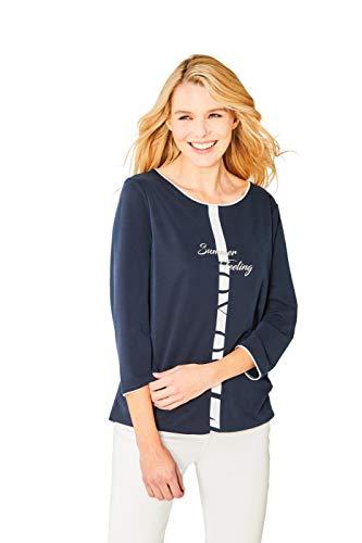 hajo Polo & Sportswear Damen Hochwertiges Shirt Rundhals Dreiviertelarm