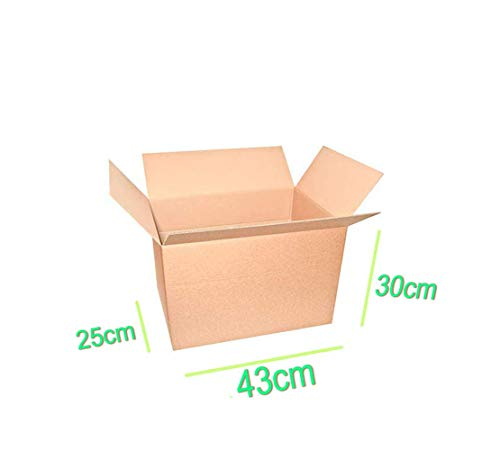 Palucart 10 scatole cartone trasloco 430x300x250 mm scatola spedizioni cartoni imballaggio traslochi scatole 43x30x25 cm