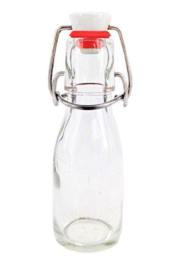 Nutley 's 100 ml kleine glazen fles met keramische beugelsluiting (12 stuks)