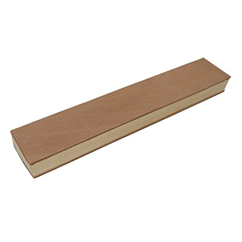Stabiler Lederriemen Streichriemen Abziehleder auf Holzschleifklotz für die traditionelle Rasur für Rasiermesser 30 x...