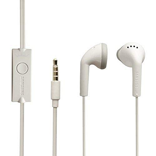 Original Samsung Headset EHS61 in Weiss für SM-G900F Galaxy S5 Kopfhörer Ohrhörer geformt Ohrstöpsel 3,5mm Stecker Stereo Sound Bulk verpackt