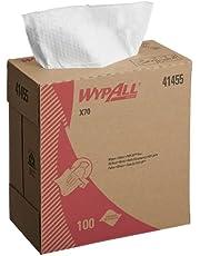 日本製紙クレシア ワイプオール X70 スモールポップアップ シングル 100枚 持ち運びに便利なBOXタイプのスモールサイズ不織布ワイパー 60227