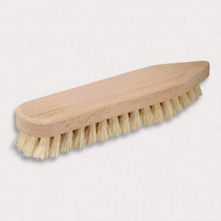 HOFMEISTER® Holz-Scheuerbürste, 21 cm, für Starke Verschmutzungen, stabile Fibre-Natur-Borste, verträgt Hitze & Reinigungsmittel, Waschbürste für Haushalt, Auto & Boot, spitz-rund