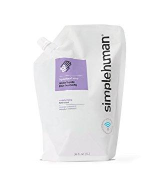 simplehuman Moisturizing Liquid Hand Soap Refill Pouch, Lavender + Vitamin E (6 Pack)