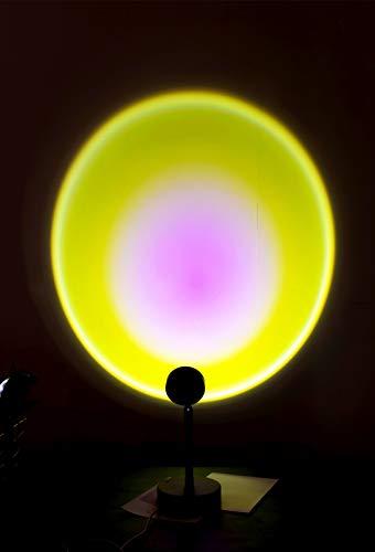 HAN XIU New Sunset Light Atmósfera Lámpara de proyección Sala de Estar Personalidad Creativa Fondo Decoración de Pared Lámpara de proyector, Proyector romántico Regalo,Sun Lights