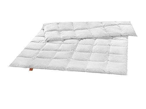 sleepling medium Ganzjahresdecke Daunendecke aus neuen weißen Daunen (90%) und Federn (10%) 135 x 200 cm, weiß