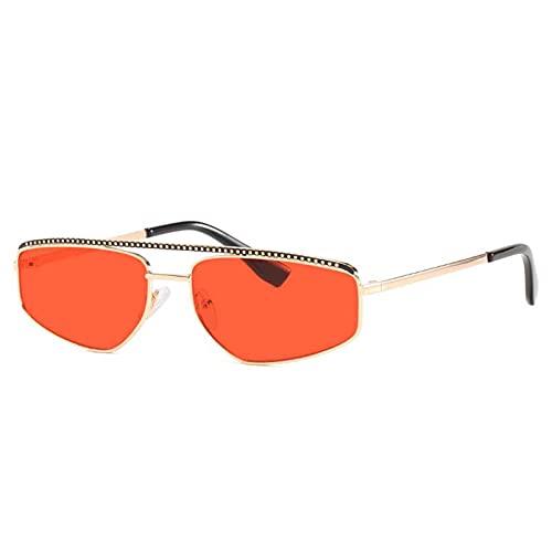AMFG Gafas de sol de marco pequeño punk gafas de sol retro hombres y mujeres fotografiar ancla al aire libre viaje (Color : C)