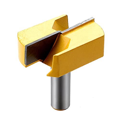 LLP Broca para Limpieza Inferior, Fresa para carpintería, Broca para Limpieza Inferior, vástago de 1/2 Pulgada, diámetro de Corte de 2-1/4 Pulgadas, con Punta de carburo, para CNC o Mesa