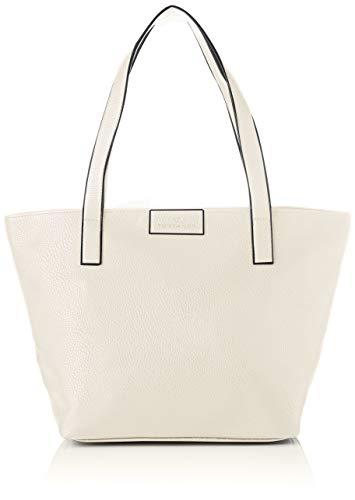 TOM TAILOR Shopper Damen, Weiß, Miri Zip, 43/36x17,5x28 cm, TOM TAILOR, Handtasche, Umhängetasche
