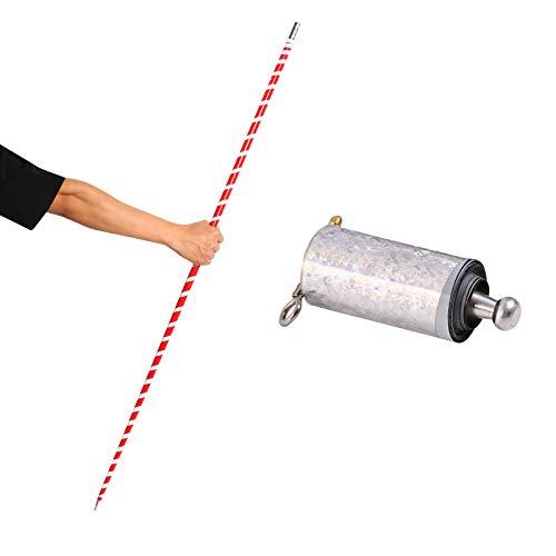 ZZLBUF Magic Pocket Teleskop Metall Stick Stage Trick Magic Zubehör 110CM / 43.31 Zoll (weiß Rot, 1.1m)