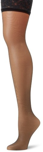 Hanes Silk Reflections Women's Lace Top Thigh High, Jet, C/D