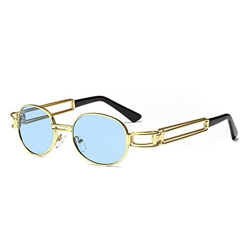 DAIDAICDK Gafas de Sol Redondas para Mujer Hombre con Montura metálica Gafas de Sol para Hombre Gafas de Viaje Accesorios para Coche al Aire Libre