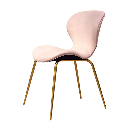 Smeedijzeren huis met rugleuning, eetkamerstoel, bureaustoel, stoel, luxe minimalistisch, modern Scandinavisch licht +++ Roze