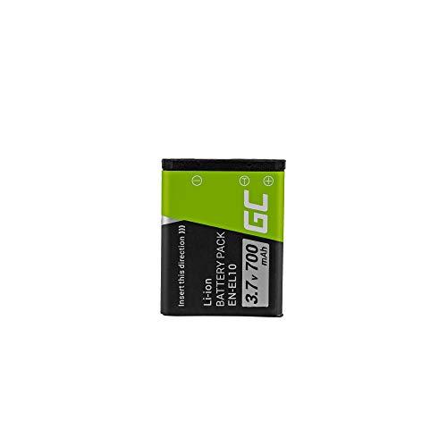 Green Cell EN-EL10 Klic-7006 LI-40B LI-42B Batería para Nikon Coolpix S510...