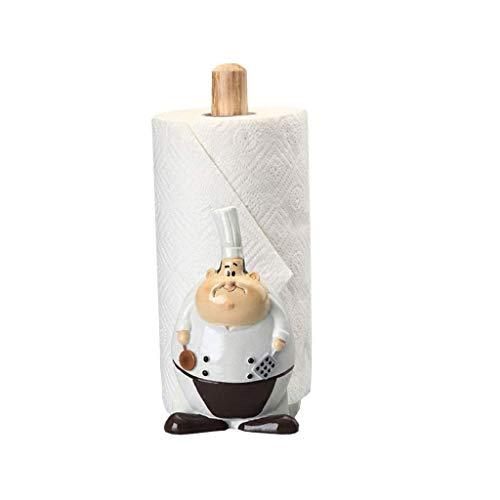 JJZXD Titular de Madera de Toallas de Papel, Papel encimera Vertical, Titular de Rack de Soporte de Papel de bambú Toalla de Cocina Salón Dormitorio la decoración del hogar