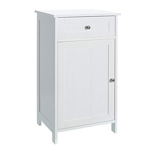 Armario de 1 cajón y 1 Puerta Minimalista Blanco de Madera para Cuarto de baño Vitta - LOLAhome