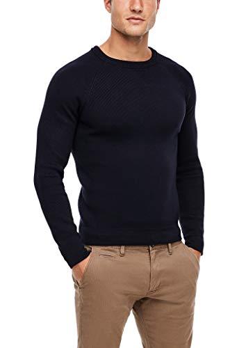 s.Oliver Herren Langarm Pullover, Dark Blue, XL