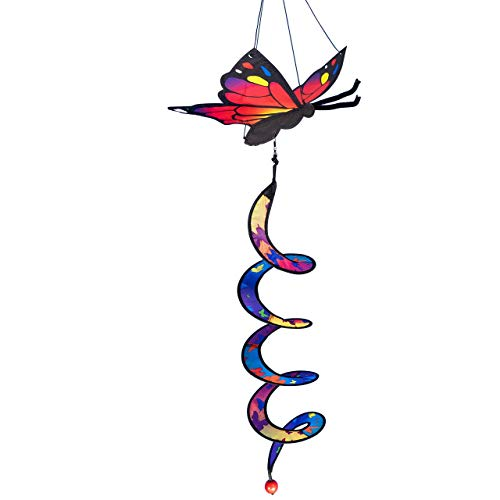 CIM Windspiel - Butterfly Twister - Spannweite: 24cm - Spirale: Ø10 cm x 50cm - inklusive Aufhängung - wetterbeständig