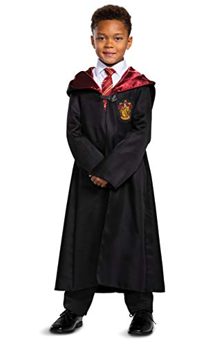 Harry Potter Gryffindor Robe Classic Childrens Costume Accessory, Black & Red, Kids Size Medium (7-8)