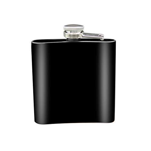 Gogdog 6 Unzen Matt Edelstahl Flachmann Taschenformat für die Lagerung von Whiskey Alkohol Schnaps