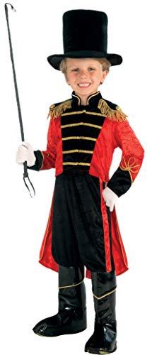 Forum Novelties Disfraz de maestro de circo para nios Pequea Negro / Rojo / oro