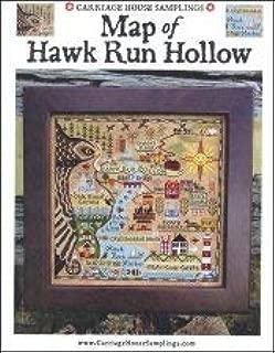 Map of Hawk Run Hollow Cross Stitch Chart
