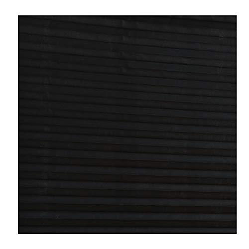 QLING Store plissé, Rideau plissé Non tissé, Abat-Jour, Store plissé temporaire abordable, Facile à Installer, Noir, 60 * 150
