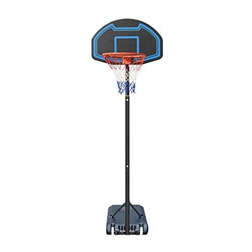 Baloncesto Hoops Objetivos Altura Sistema de baloncesto ajustable Equipo de canasta portátil con ruedas grandes con tablero grande Base grande para adolescentes para jóvenes Adultos Familia interior a