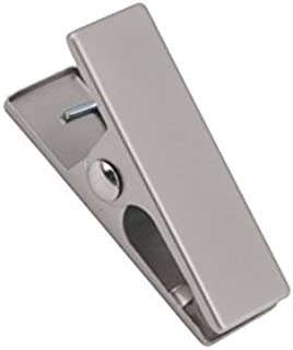 NAHANCO Fitting Clip BC12 Brushed Chrome Fitting Clip is Rubber Lined at The Pincher End for A Firm Hold. 2 3/8