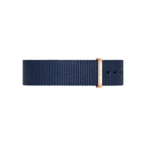 Daniel Wellington Classic Bayswater Cinturino Unisex Adulto, 18mm, in NATO, Blu/Oro Rosato
