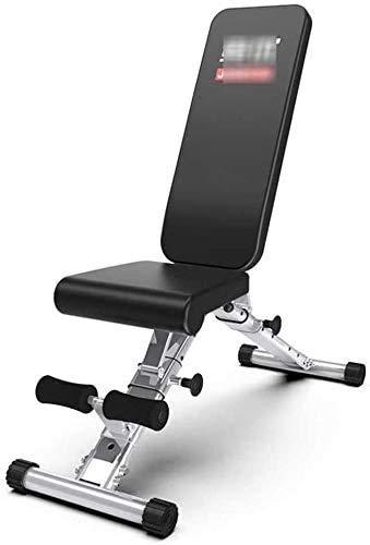 Axjzh Verstellbare Bänke Faltbare Hantelbank Edelstahl Gym Bench Adjustable Bench Press Gewicht Bank mit Weightssit Up Bench Load Bearing bis zu 300 kg Bänke