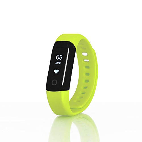 Sharon Wellsmart Cardio Sport - Pulsera Reloj inteligente Fitness Tracker, Bluetooth Ritmo Cardíaco, Impermeable, Integra Apple Health Google Fit