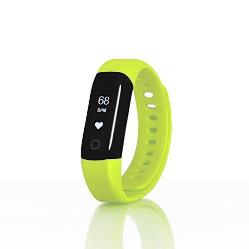 Wellsmart Cardio Sport+ Armband Wellness Smartwatch Fitness Tracker Pulsuhr für Schwimmen Sauna Dampfbad Herzfrequenz bis 30 m Wasserdicht AOK Plus Bonus Integriert Apple Health Google Fit