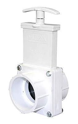 "Valterra 6201 PVC Gate Valve, White, 2"" Slip by Valterra Products"