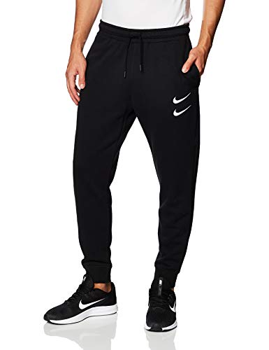 Nike Herren M NSW Swoosh Pant FT Sport Trousers, Black/(White), M
