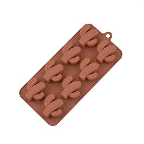 JYDQM 4 Arten Ahorn Schokoladenkuchen Seifenform Backen Eisschale Mold Küchenwerkzeuge Schokoladenwerkzeuge Silikon Kaktus (Color : B)