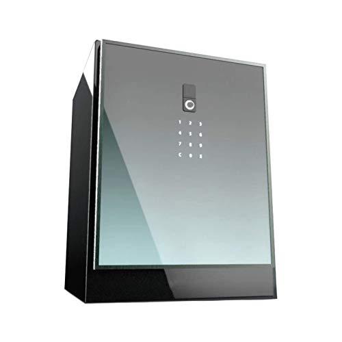 DJDLLZY Oficina de seguridad y rectángulo del bloqueo con teclado de huellas dactilares de seguridad, alarma inteligente Completo LCD de cristal templado de seguridad Seguridad personal con 50 cm de b