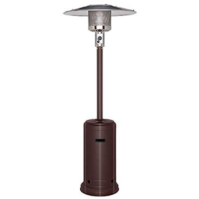 ROVSUN Propane Outdoor Heaters w/Wheels, 46000 BTU Hammered Bronze, for Yard Indoor and Outdoor