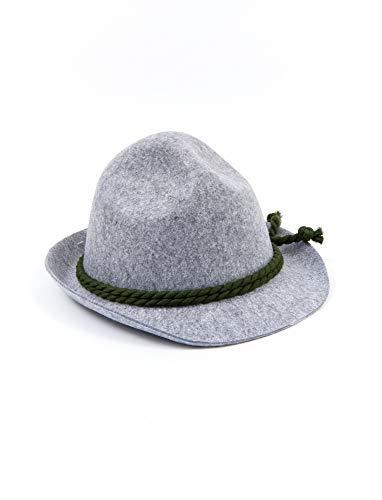 Tirolerhut sepplhut bayernhut avec cordon gris vert 59 58 62419