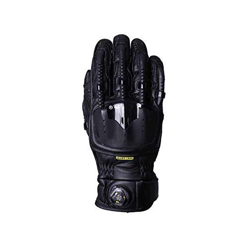 Knox Handroid Base MK4 Cuero Moto Guantes Negros - Medio