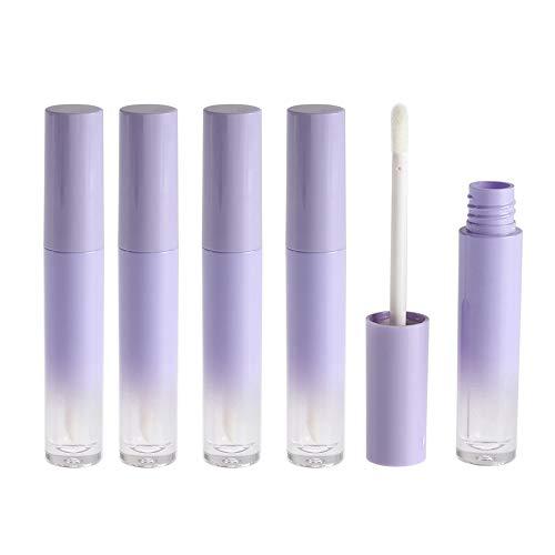 EOPER 10 Pièces 5 ML Vide Tube de Brillant à Lèvres en Dégradé Violet, Tube Conteneur de Vernis à Lèvres en Plastique Petits Flacons d'échantillon Cosmétique pour Brillant à Lèvres