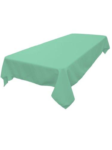 LA Linen 100-Percent Premium Spun Polyester Tablecloth, 60-Inch by 120-Inch, Mint