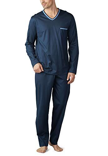 Mey Night Uni Basic Herren Schlafanzüge lang Blau 98