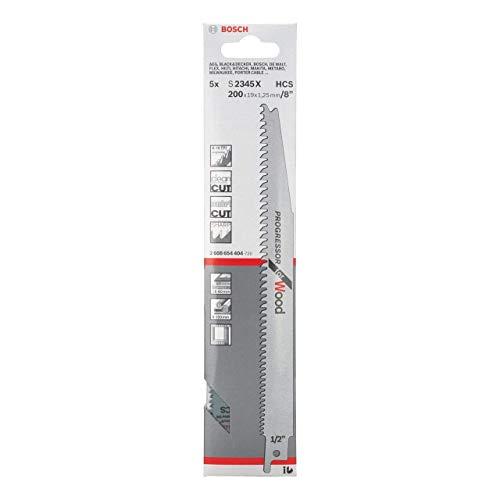 Bosch Professional Reciprosägeblätter Holz lang S2345X 5 Stück