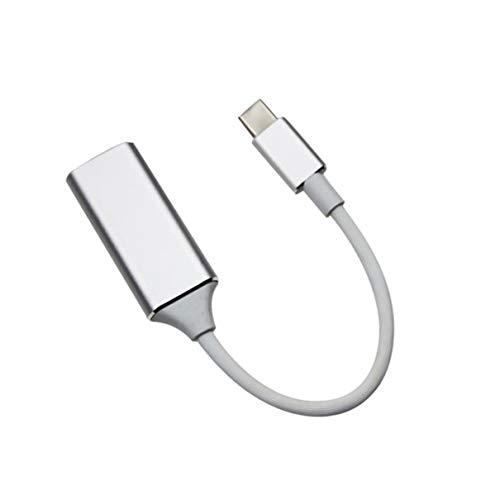 OocciShopp Convertidor 4K de Alta definición de Tipo c a HDMI Compatible con TV móvil de Tipo c a HDMI Cable de la Misma Pantalla para Oficina en casa (Plateado)