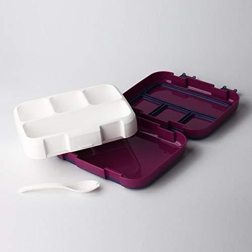Nueva caja de almuerzo práctica a prueba de fugas Caja bento portátil de alta capacidad Estudiante...