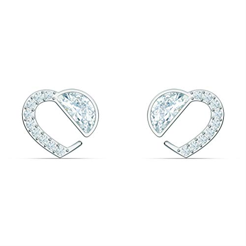 Swarovski Women's Hear Heart Stud Earrings, with Crystals, Rose-gold Tone Plated, from the Amazon Exclusive Swarovski Hear Collection