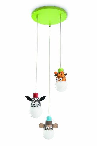 Philips Zoo Suspension Luminaire pour Enfant Métal Multicolore 3 x 14 W